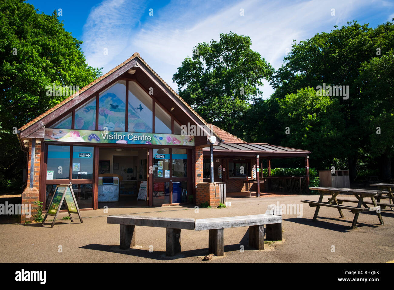 Visitor Centre at Newlands Corner park in Surrey Stock Photo