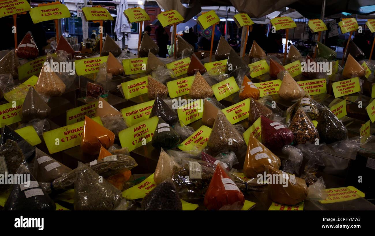 Campo dei Fiori market, Roma, Italia, Rome Italy Stock Photo