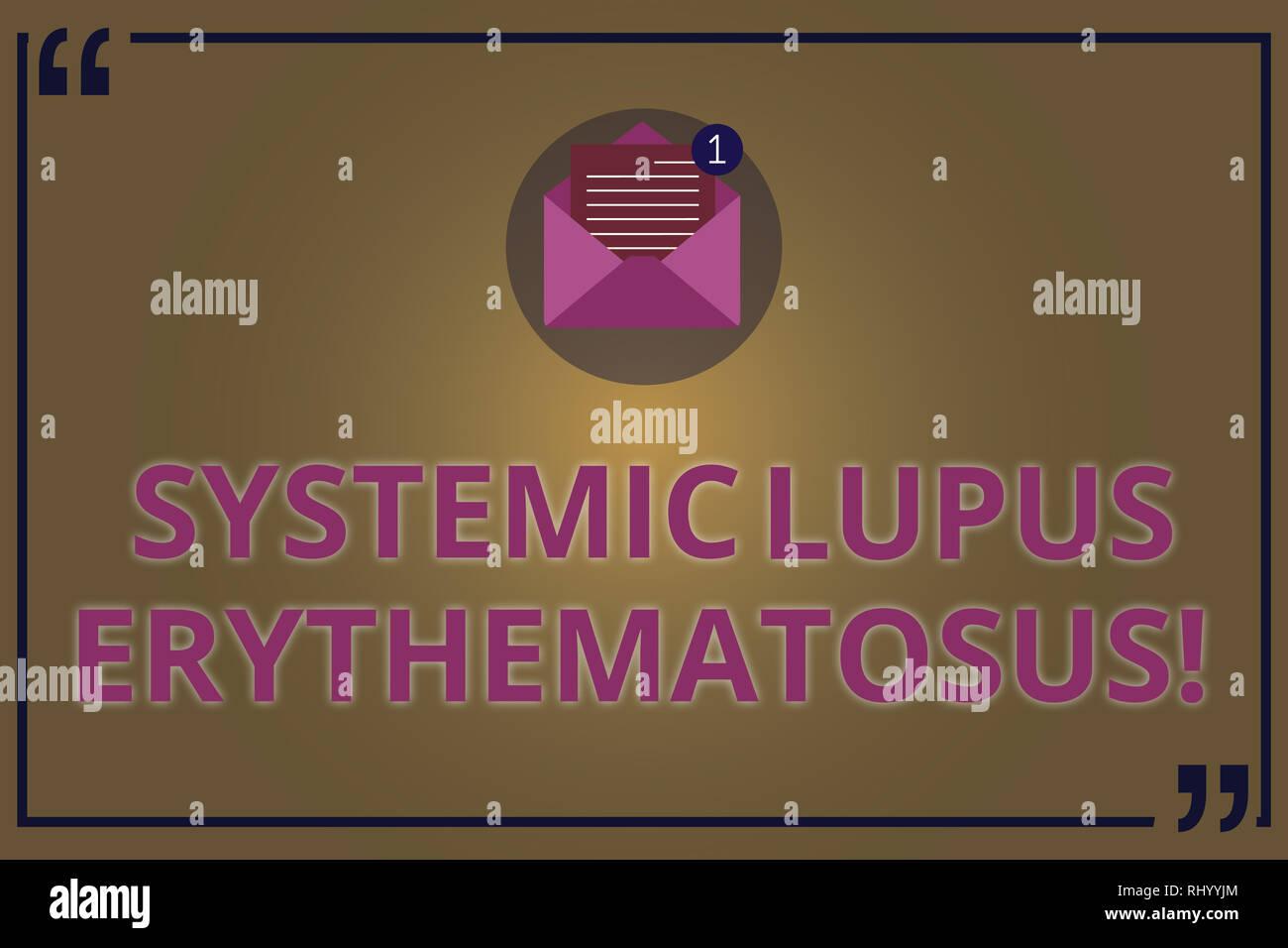 Writing Note Showing Systemic Lupus Erythematosus Business Photo
