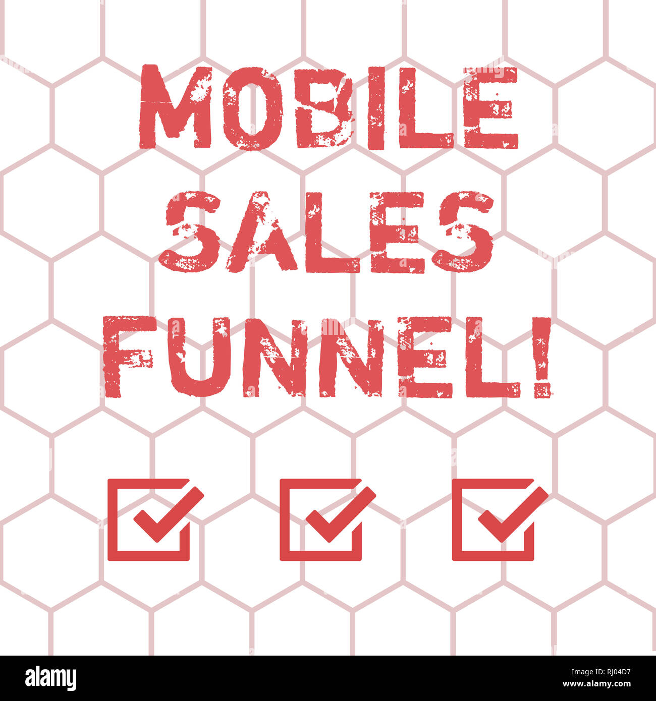 Writing note showing Mobile Sales Funnel. Business photo showcasing visual metaphor for path taken by potential customer Outline of Geometric Shape He - Stock Image