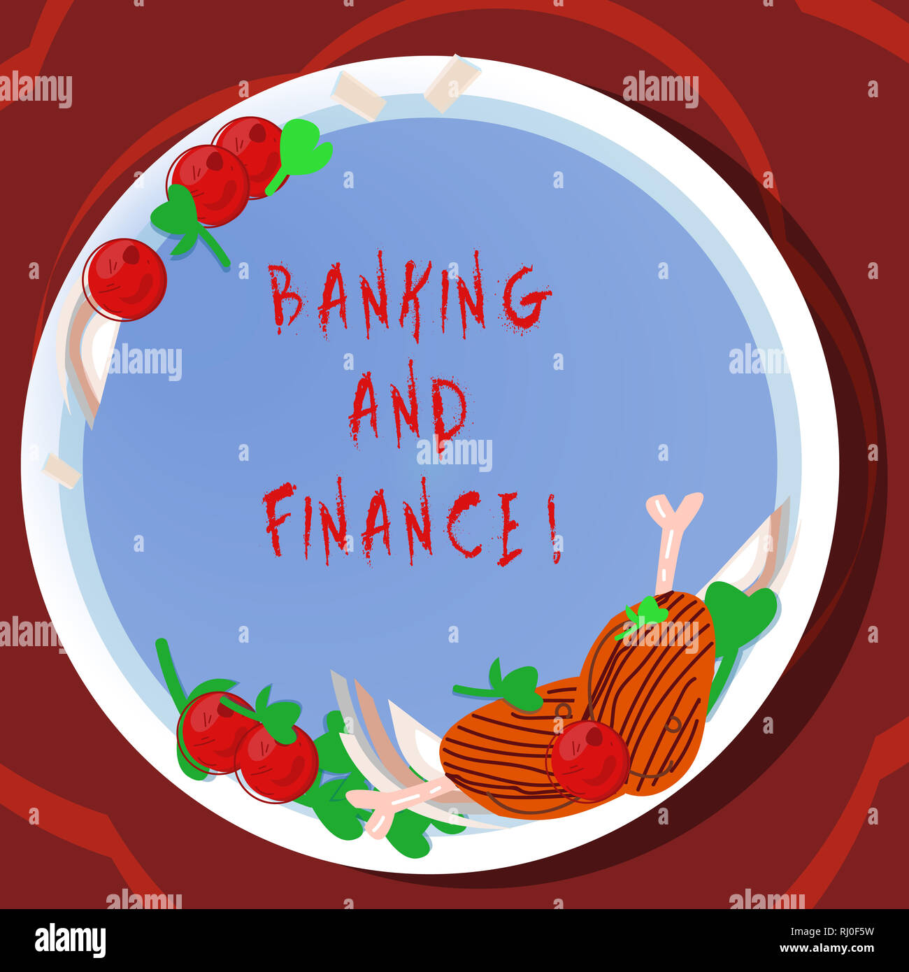 Conceptual hand writing showing Banking And Finance. Business photo showcasing institutions that provide variety of financial services Hand Drawn Lamb - Stock Image