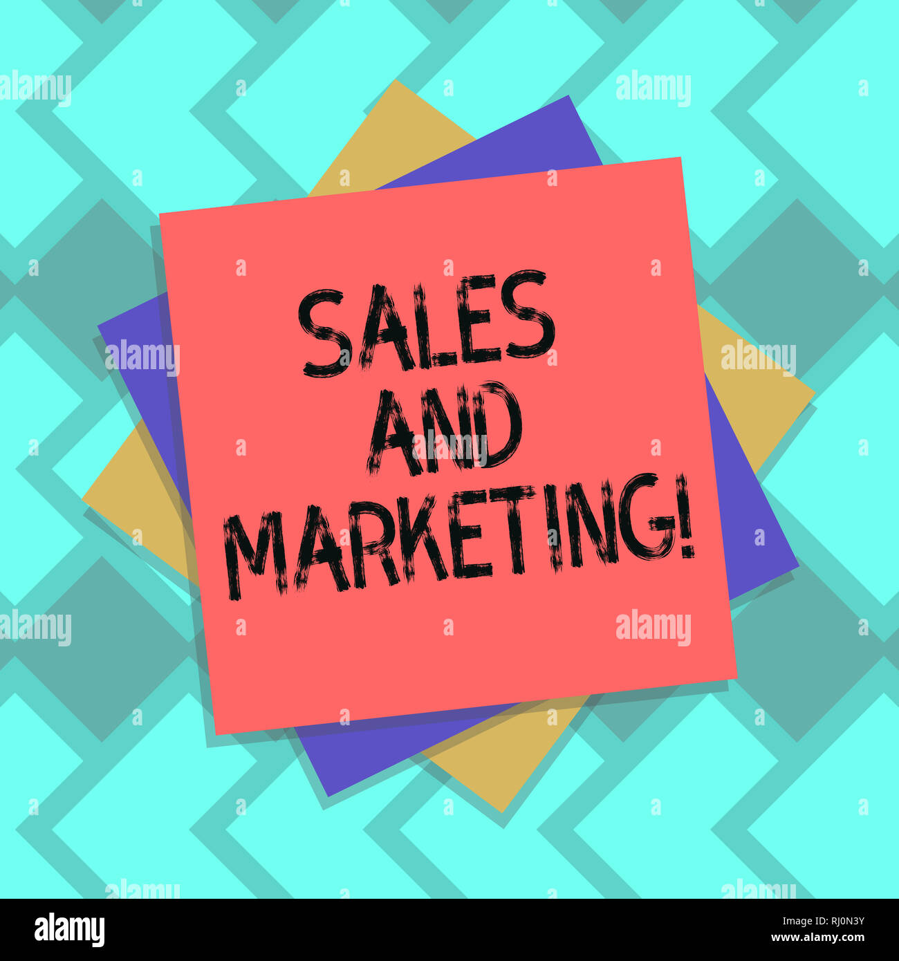 Text sign showing Sales And Marketing. Conceptual photo activities for selling and advertising products Multiple Layer of Blank Sheets Color Paper Car Stock Photo