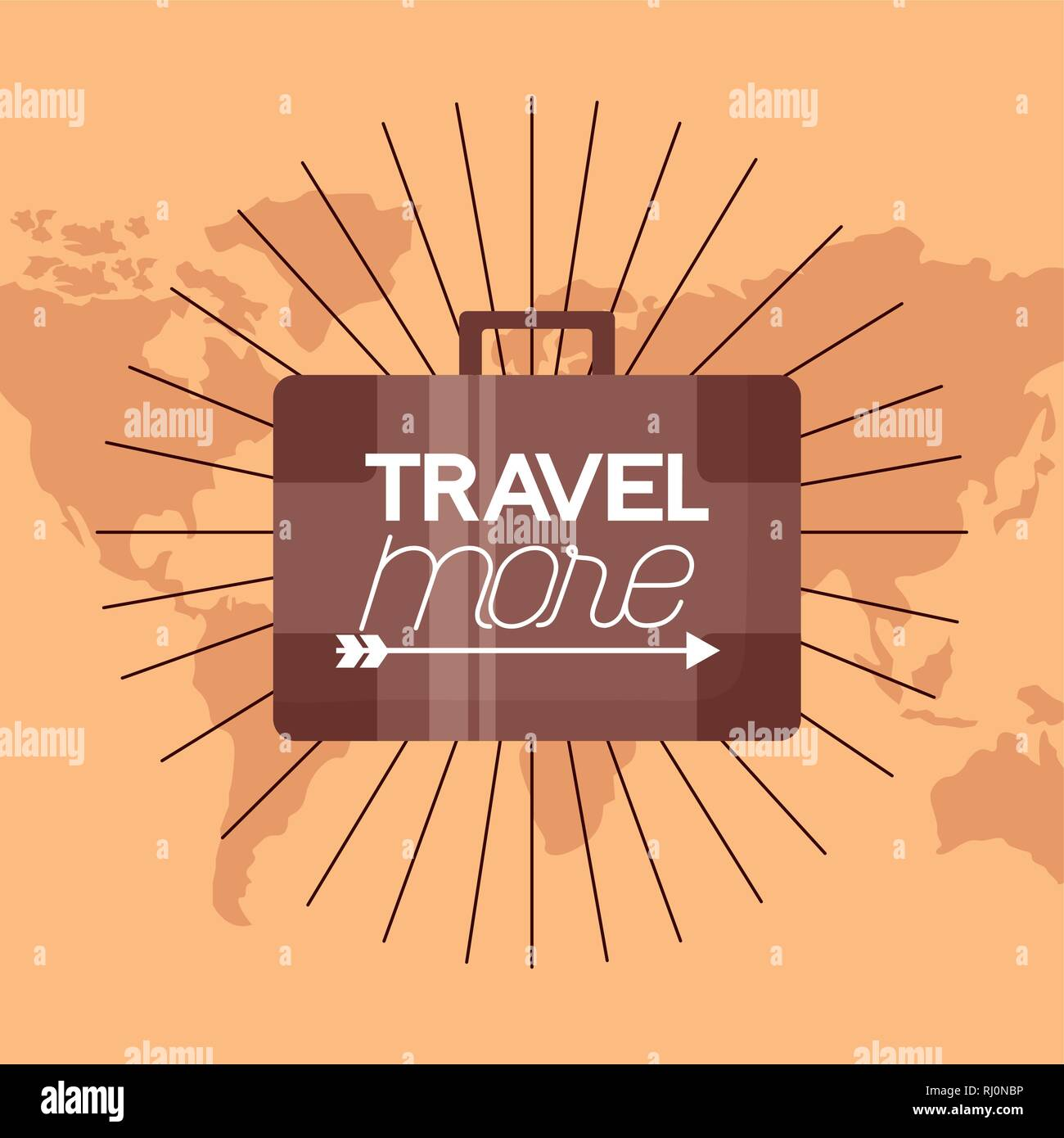 travel more background - Stock Image