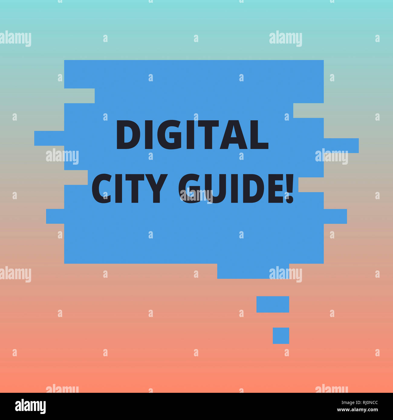 Handwriting text Digital City Guide  Concept meaning app