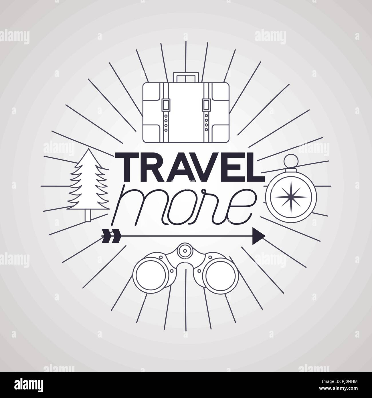 travel more background - Stock Vector