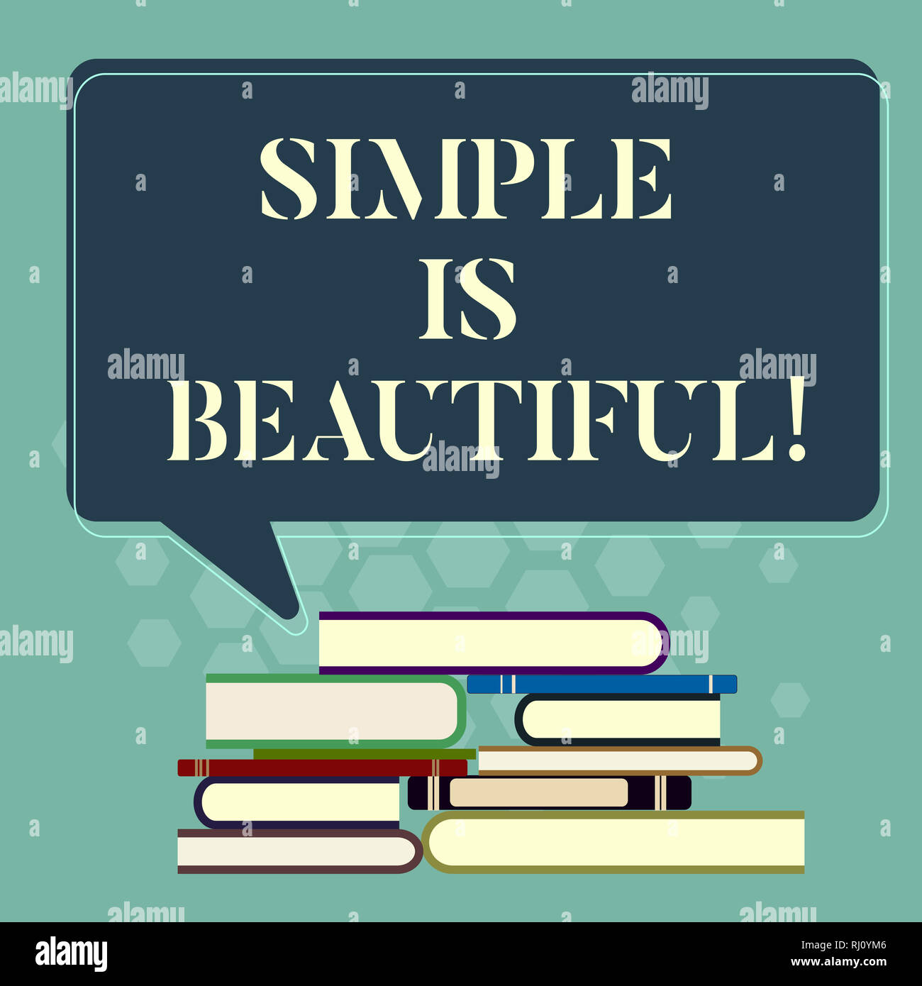 Word Writing Text Simple Is Beautiful Business Concept For You Do Not Have To Cover Under Makeup Be Natural Uneven Pile Of Hardbound Books And Blank