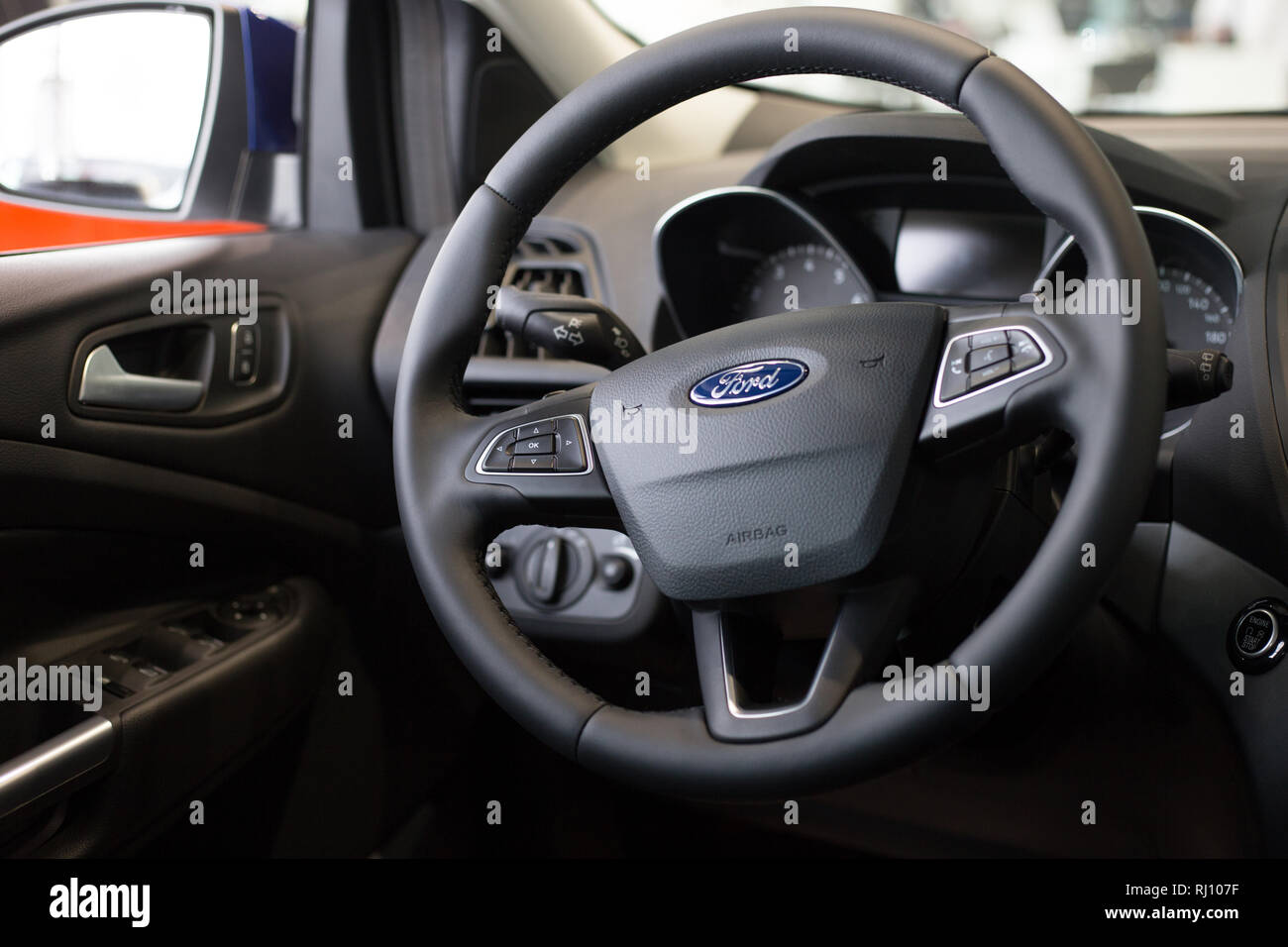 Ford Vehicle Showroom >> Russia Izhevsk January 27 2019 Showroom Ford Interior Of New