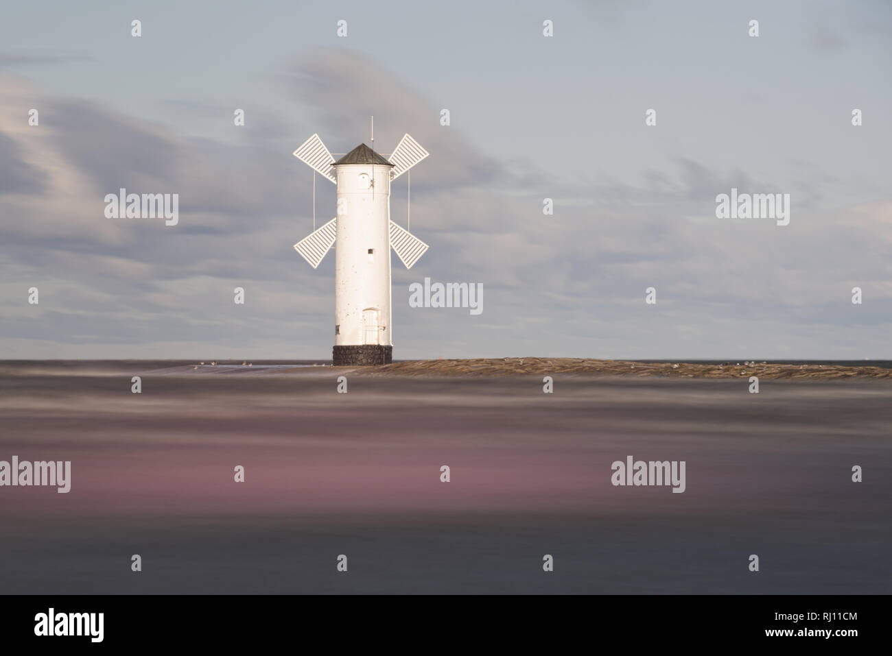 Lighthouse in Swinoujscie, a port in Poland on the Baltic Sea Stock Photo