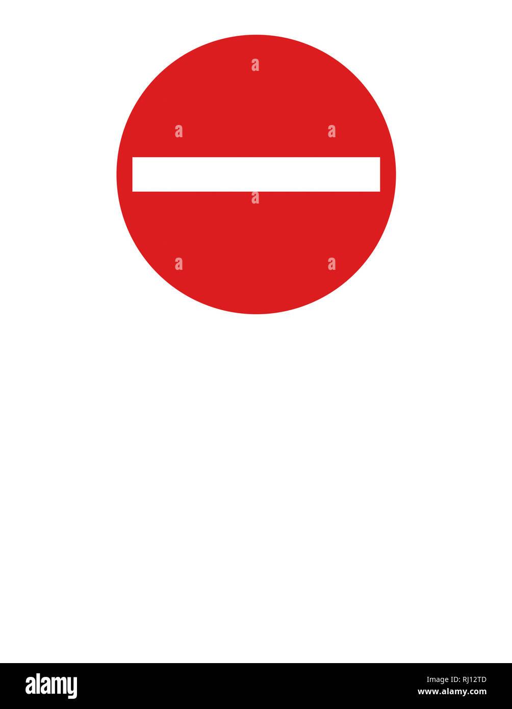 Do not enter icon isolated on white background - Stock Image