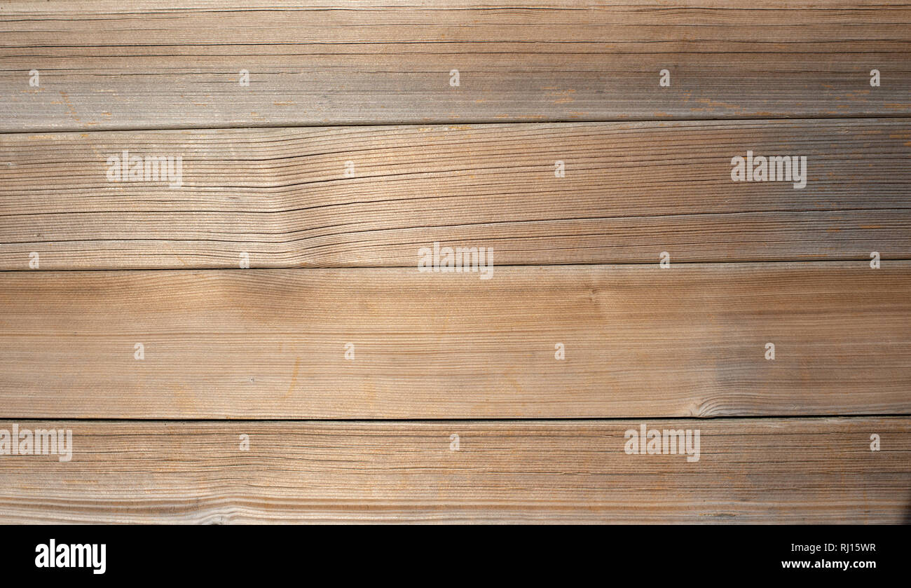 Light brown wooden planks, wall, table, ceiling or floor surface. Wood texture - Stock Image