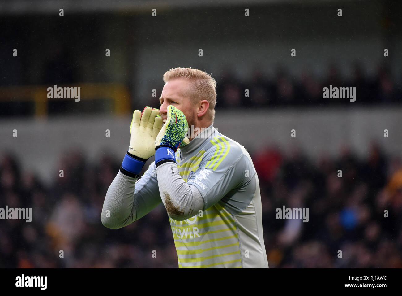 Danish goalkeeper footballer Kasper Schmeichel Stock Photo