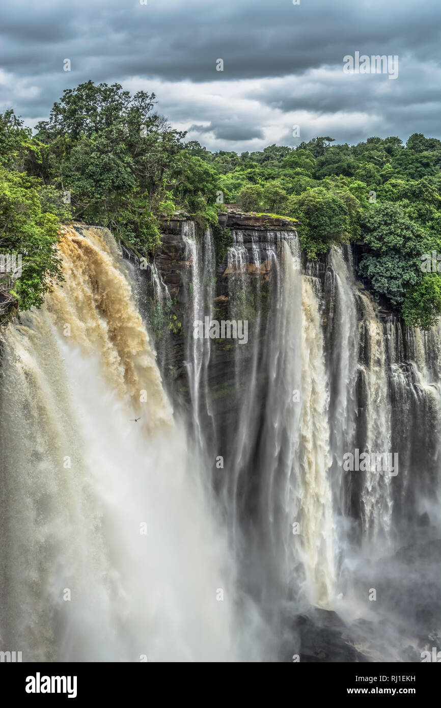 Full view of the Kalandula waterfalls on Lucala river, in Angola - Stock Image