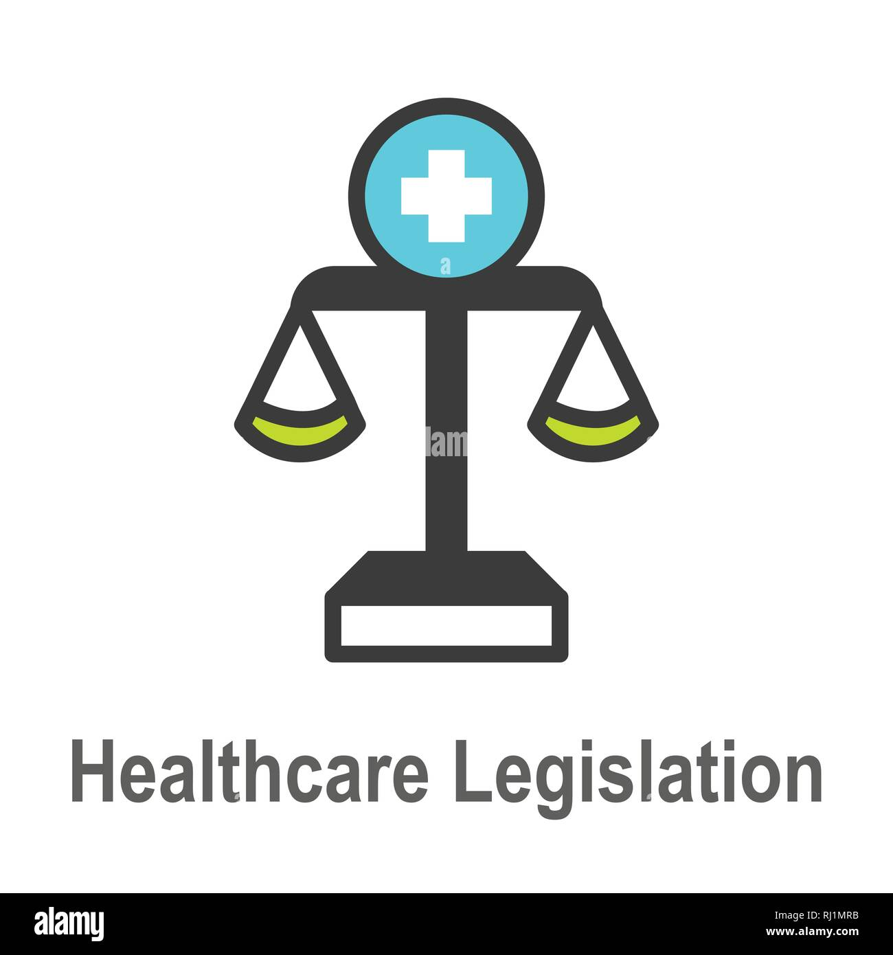 Health Laws and Legal icon set | various aspects of the legal system - Stock Vector