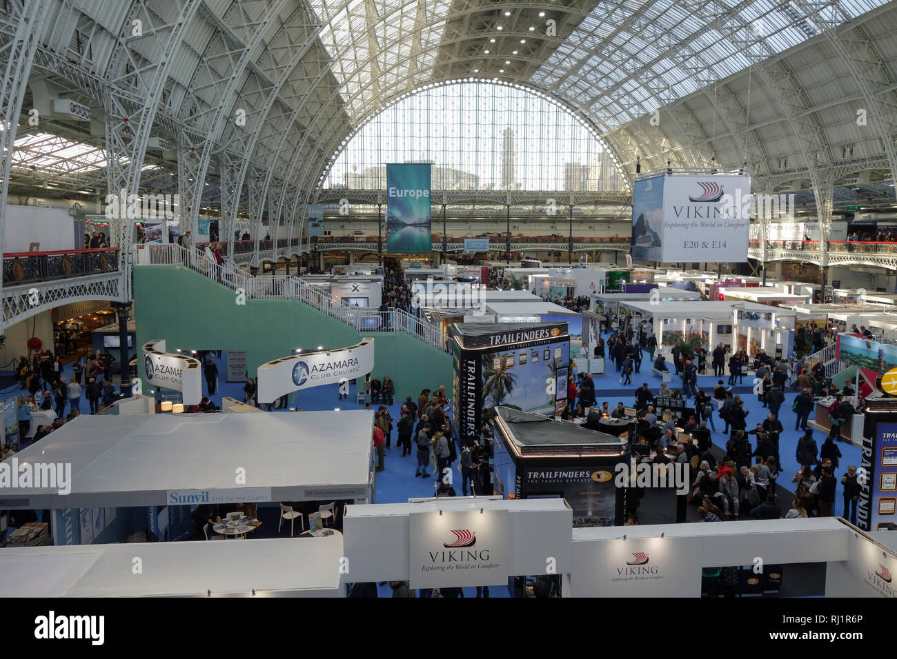London, UK, 3rd February 2019, Destinations The Holiday and Travel Show. Stock Photo