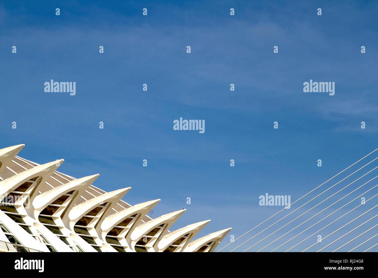 Valencia-Science museum windows - Stock Image