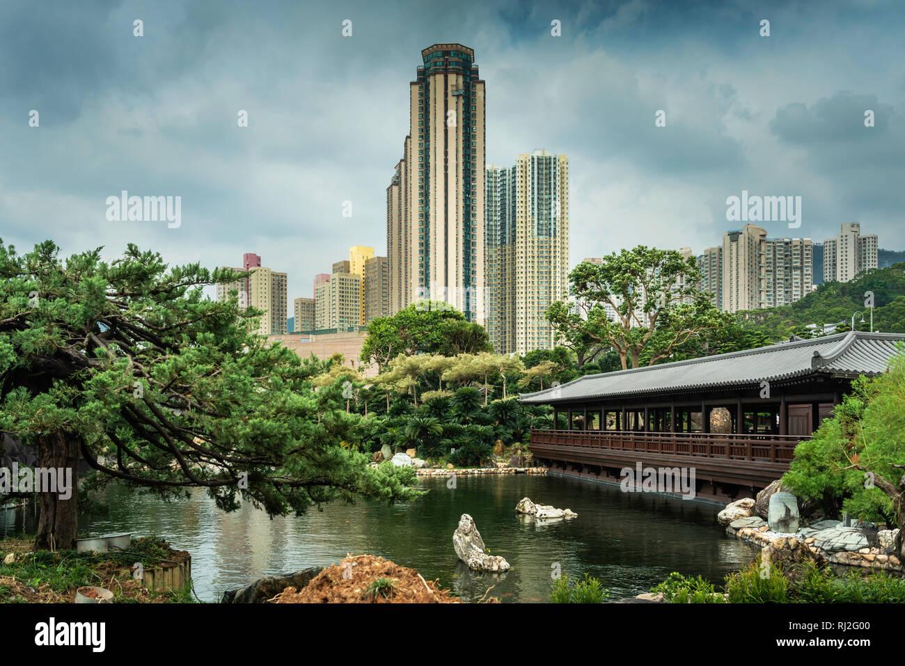The Nan Lian Garden in Diamond Hill, Kowloon, Hong Kong, China, Asia. Stock Photo