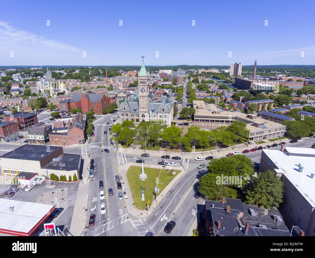 Rooms: Massachusetts State House Aerial Stock Photos