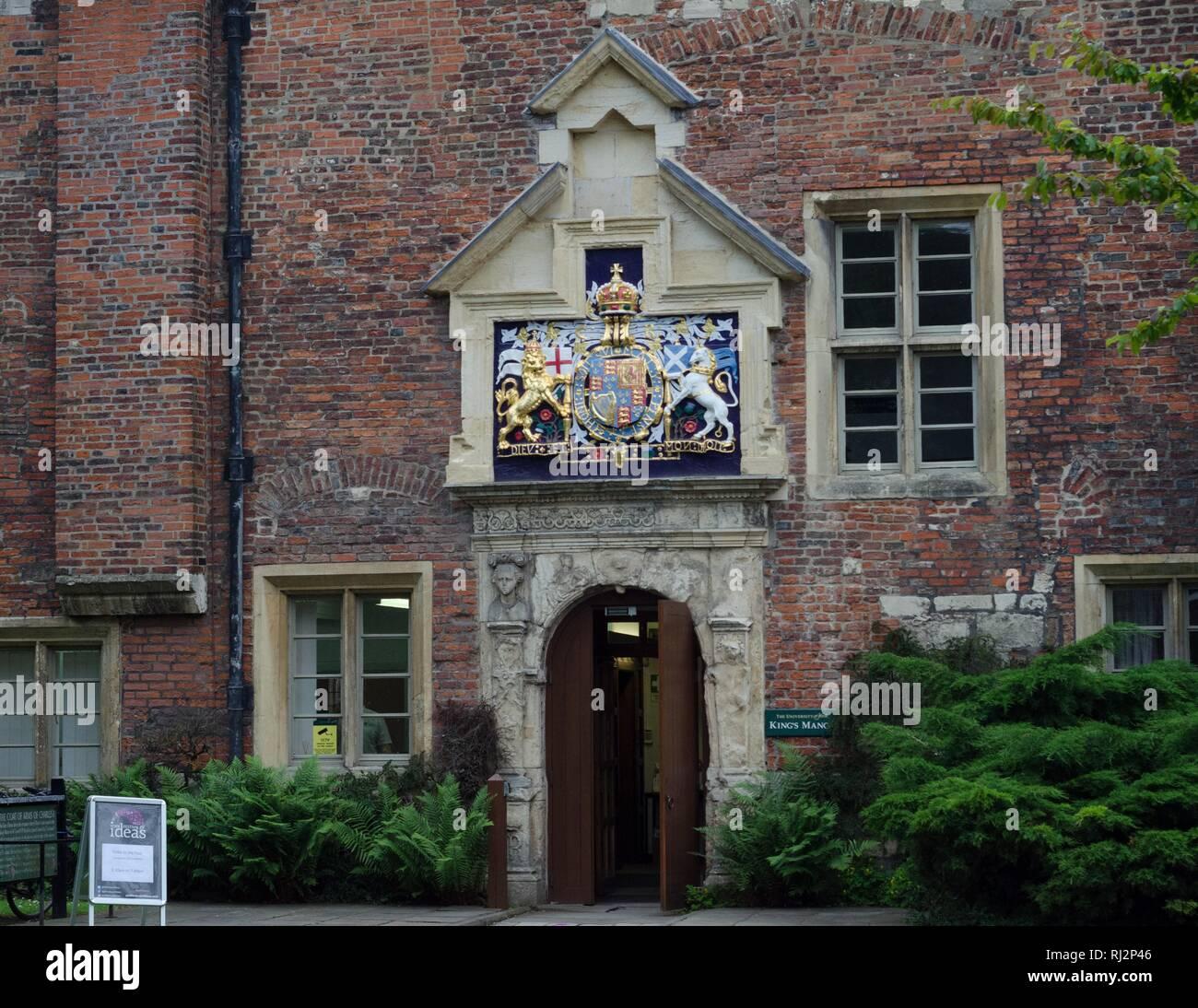 The main entrance to Kings Manor, University of York, York, England. - Stock Image