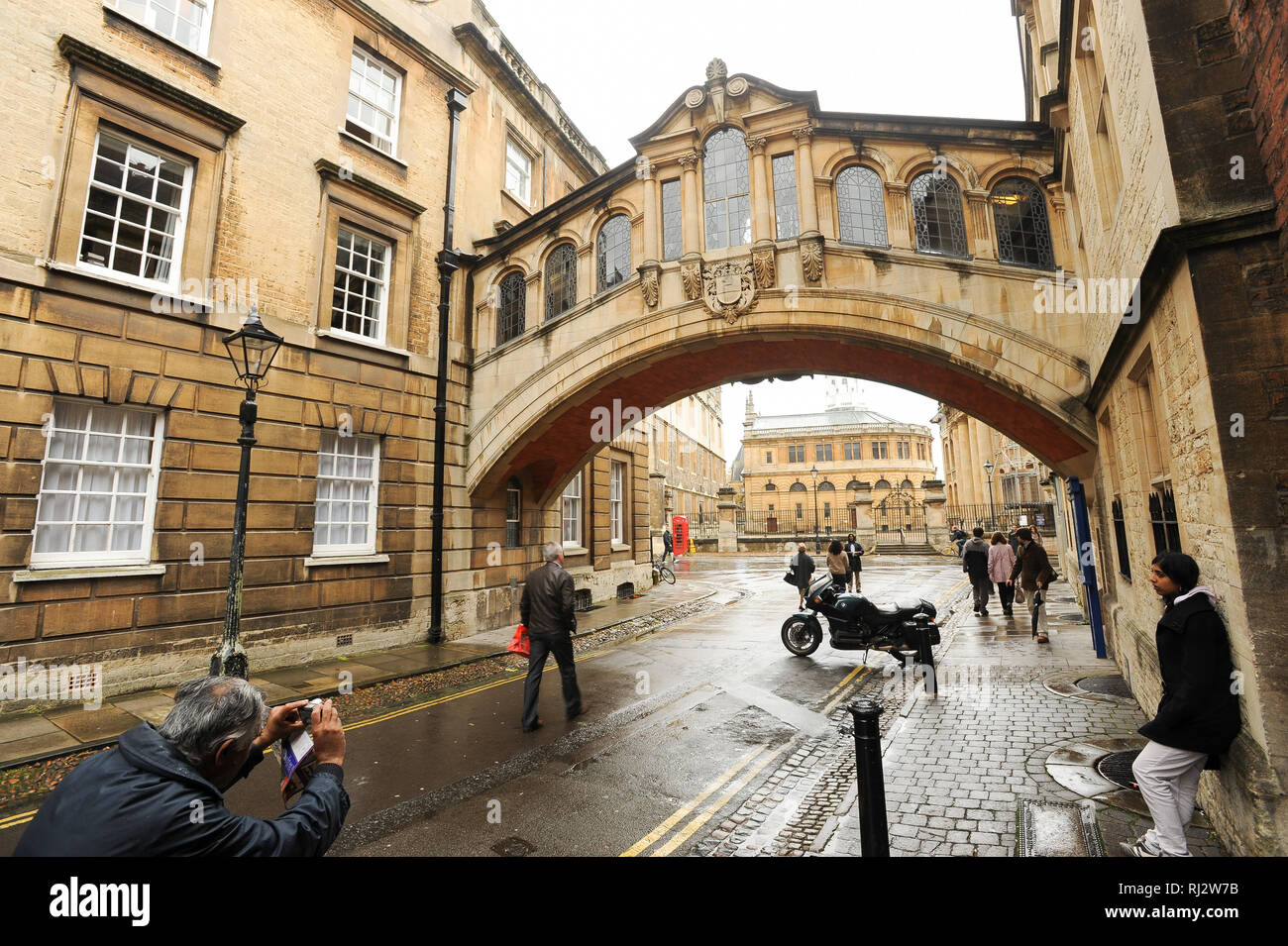 Bridge of Sighs (Hertford Bridge) over New College Lane, Hertford College, University of Oxford one of the oldest universities in the world. Historic  - Stock Image