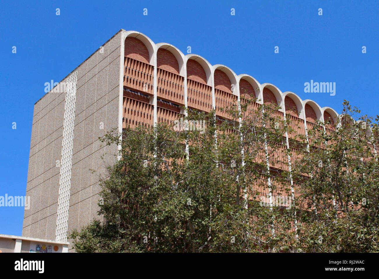 Los Angeles, California, USA. 27 July, 2017. Mathematics Building on the campus of The University of California, Los Angeles (UCLA). - Stock Image