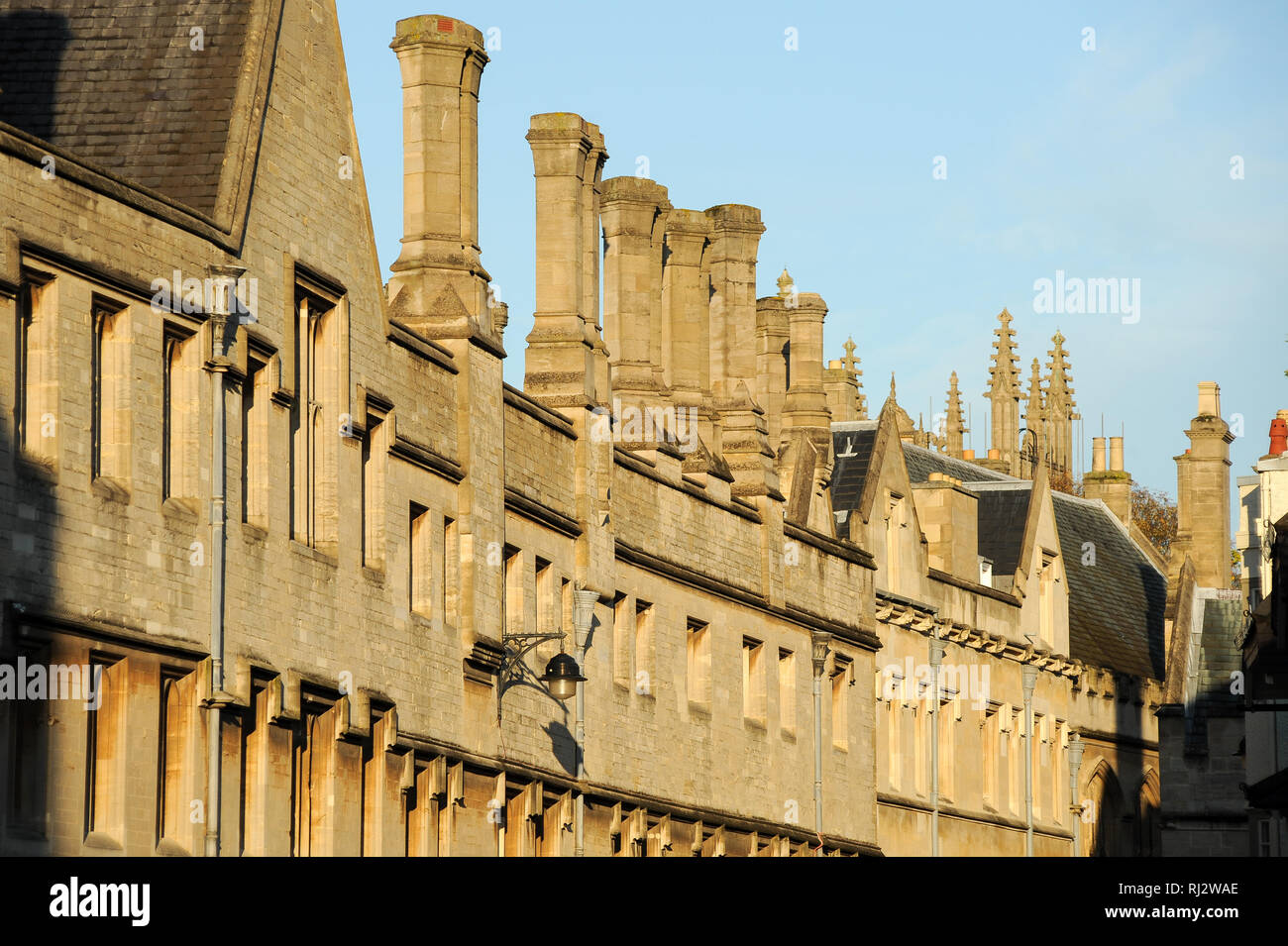 Jesus College, University of Oxford one of the oldest universities in the world. Historic Centre of Oxford, Oxfordshire, England, United Kingdom. Octo Stock Photo