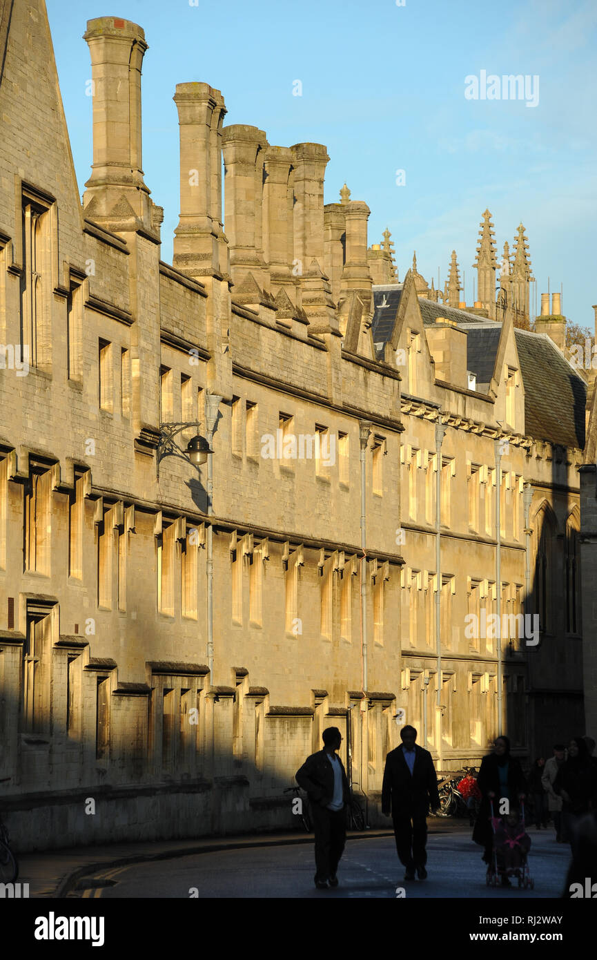 Jesus College, University of Oxford one of the oldest universities in the world. Historic Centre of Oxford, Oxfordshire, England, United Kingdom. Octo - Stock Image