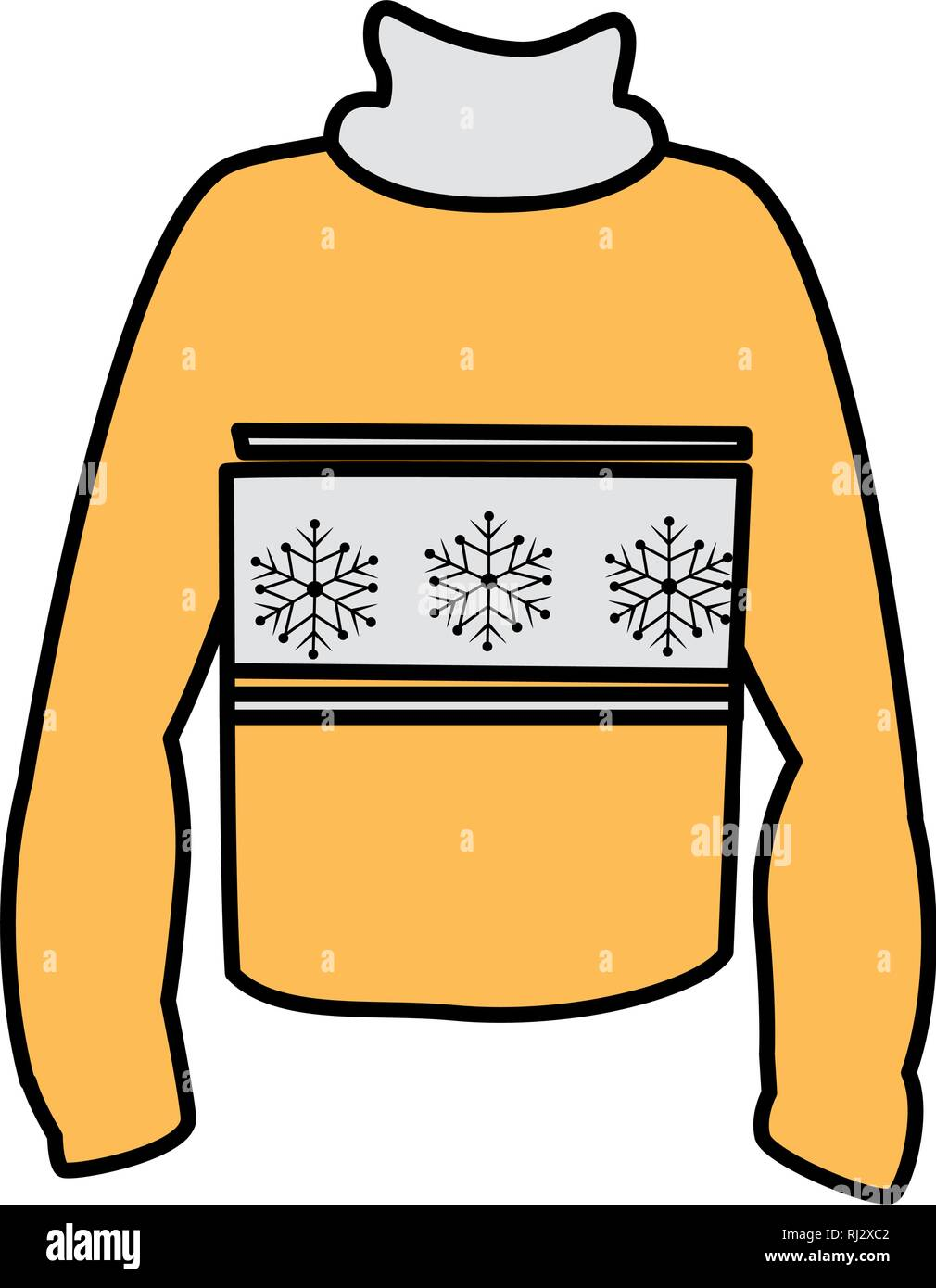 winter season sweater icon vector illustration design - Stock Vector