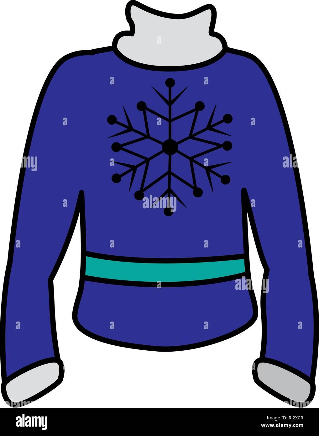 winter season sweater icon vector illustration design - Stock Vector