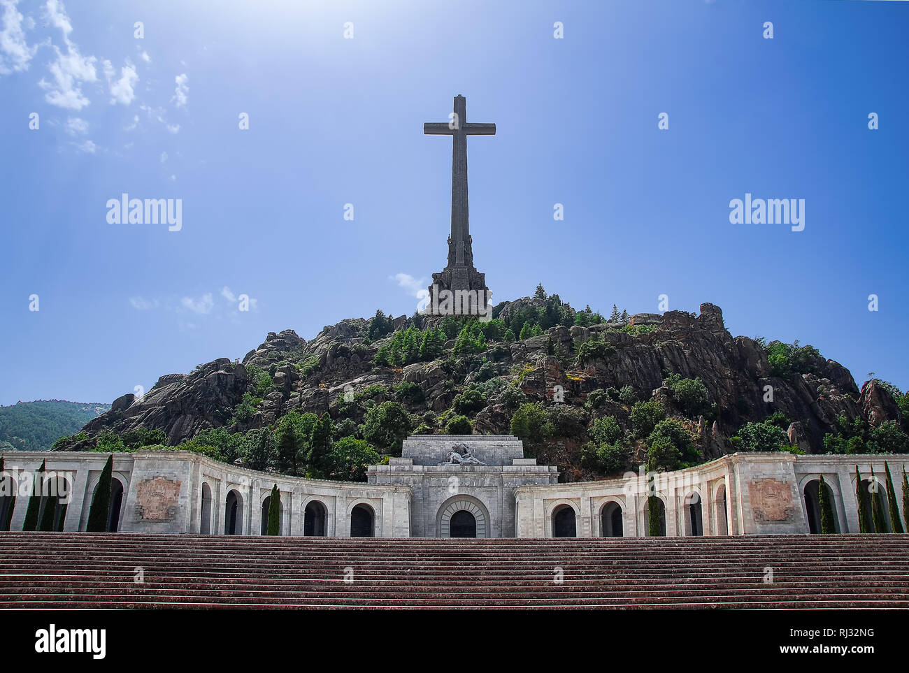Valley of the Fallen in Madrid, Spain Stock Photo
