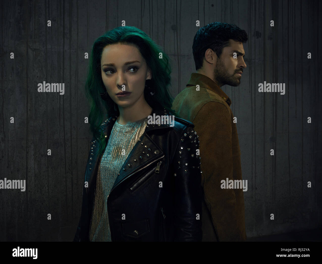 """Emma Dumont, Lorna Dane, Sean Teale, """"The Gifted"""" Season 2 (2019)  Credit: Fox Broadcasting Co. / The Hollywood Archive Stock Photo"""