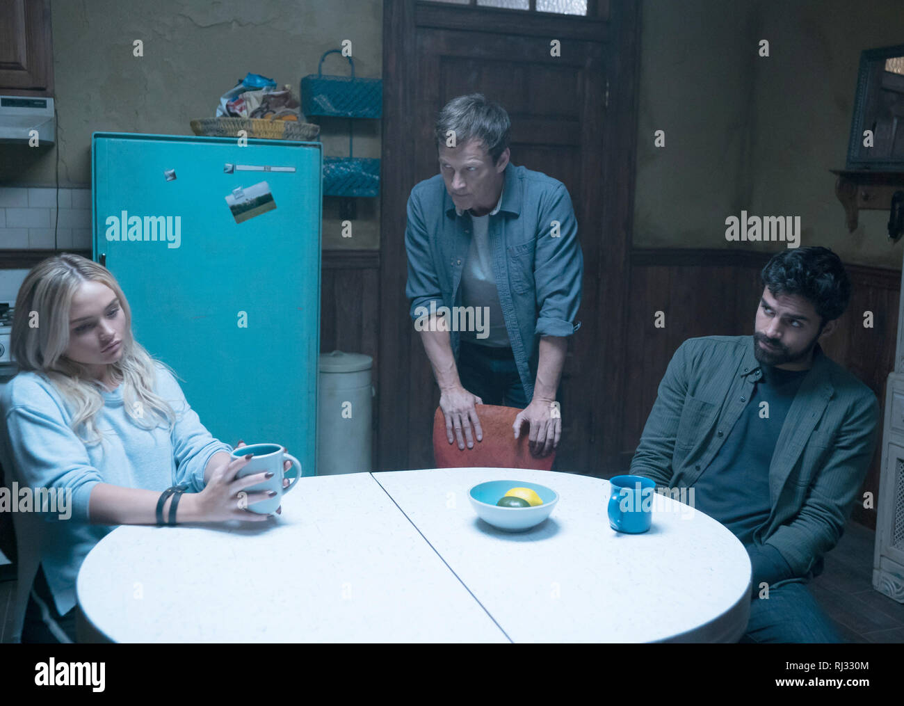 Natalie Alyn Lind, Stephen Moyer, Sean Teale, 'The Gifted' Season 2 (2019)  Credit: Fox Broadcasting Co. / The Hollywood Archive - Stock Image