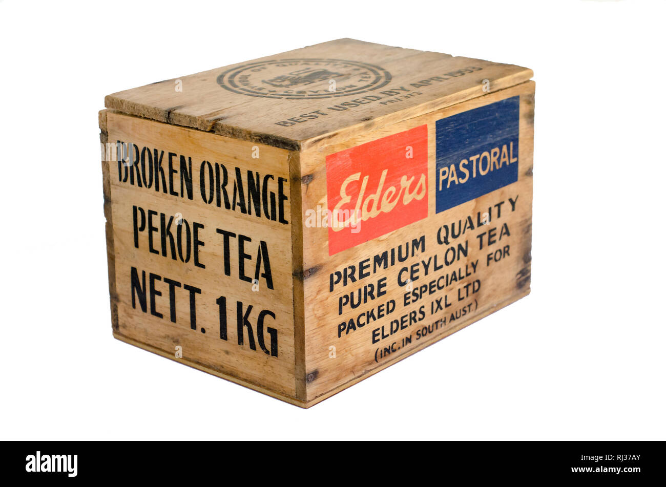 Small Wooden Box previously containing 1kg of Pure Ceylon