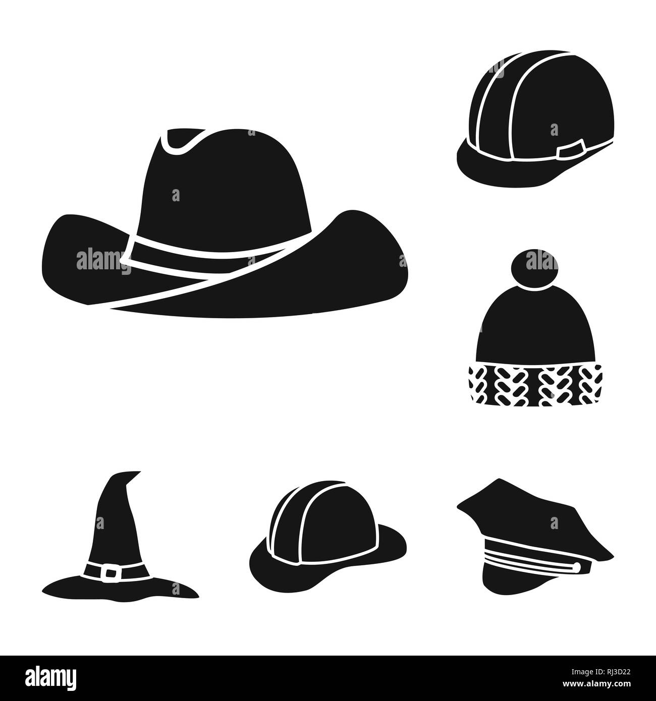 d062af49c14 Isolated object of beanie and beret sign. Collection of beanie and napper vector  icon for stock.