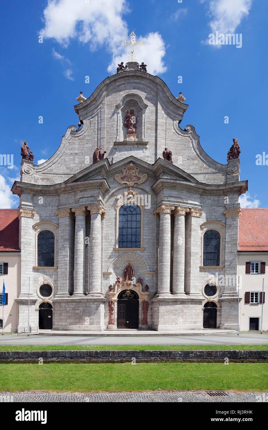 Kloster mit Barockmünster Zwiefalten, Schwäbische Alb, Baden-Württemberg, Deutschland - Stock Image