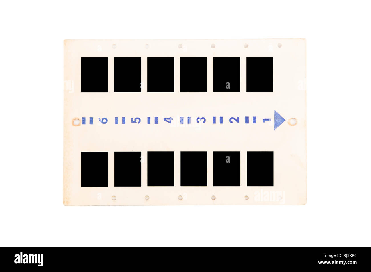 Vintage photo slides panel isolated Stock Photo