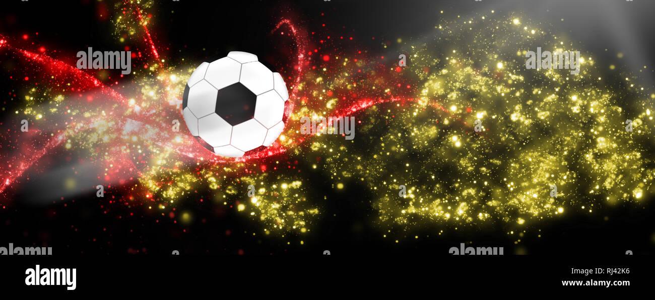 WM 2018 Fußballhimmel Deutschland - Stock Image