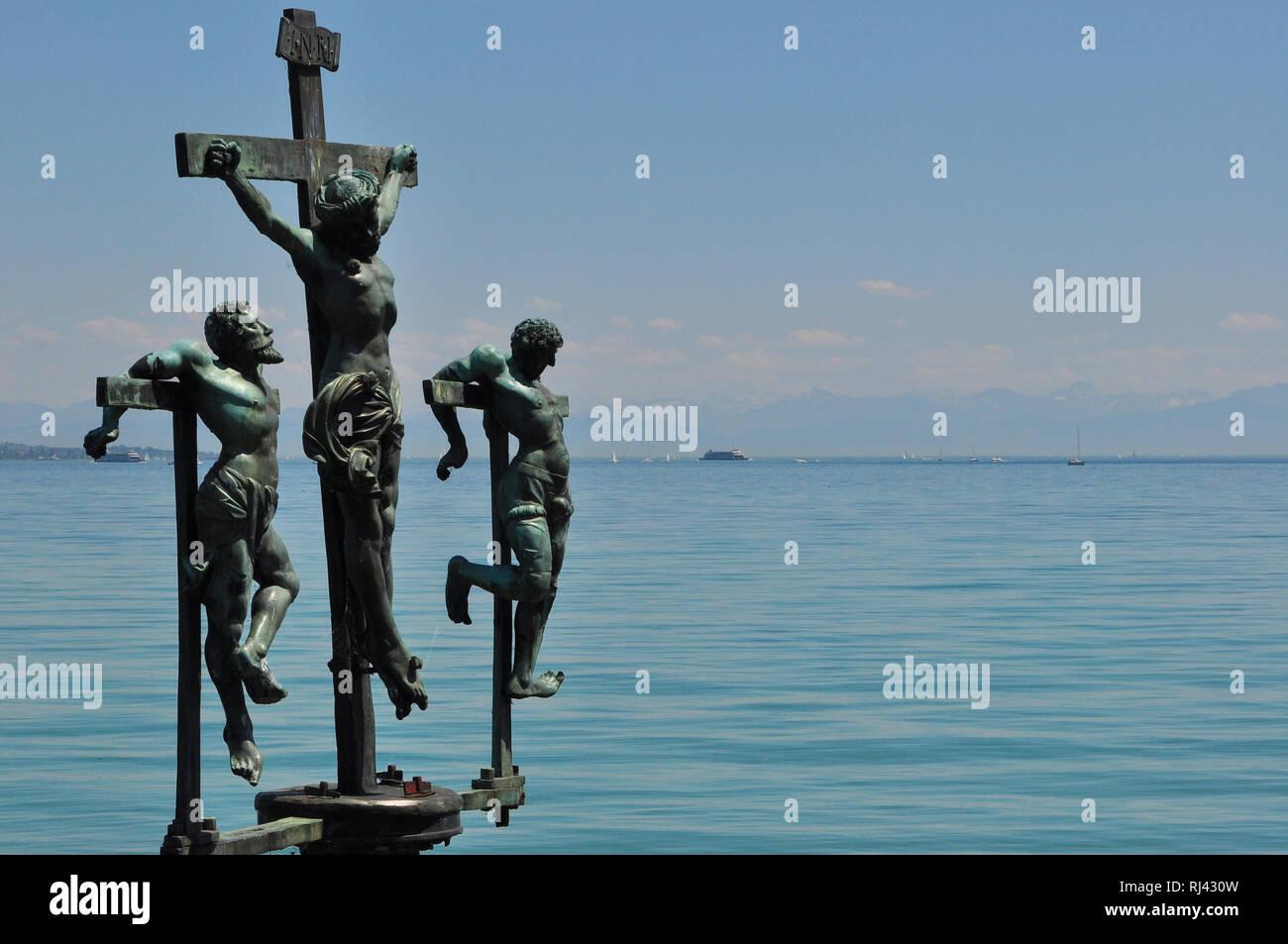 Deutschland, Baden-W¸rttemberg, Bodensee, Insel Mainau, Schwedenkreuz, - Stock Image