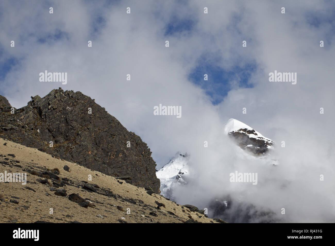 Bolivien, Cordillera Apolobamba, Stock Photo