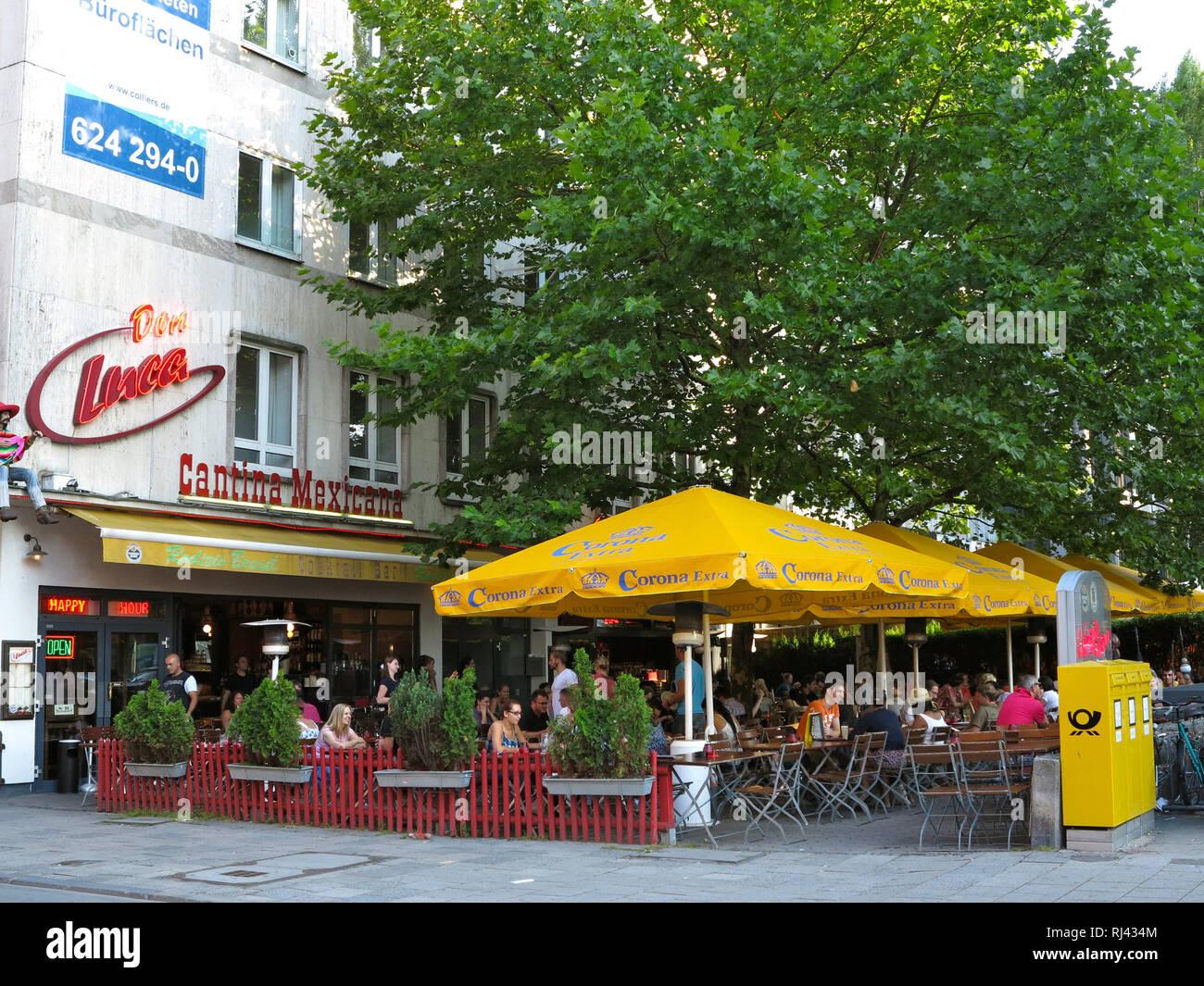 Deutschland, Oberbayern, M?nchen, Schwabing, Leopoldstra?e, Restaurant, - Stock Image