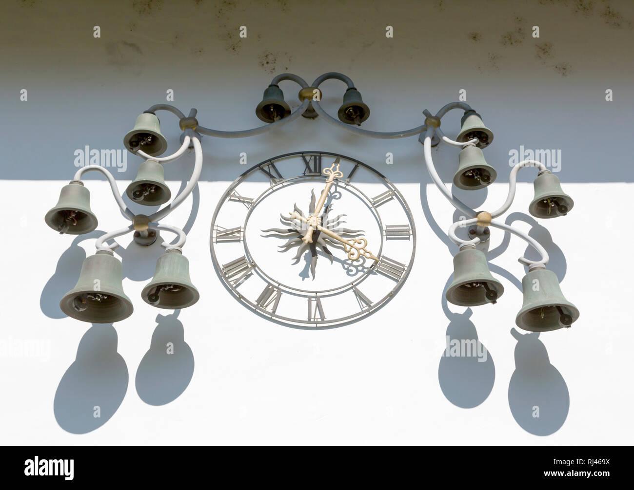 Uhrwerk, Altes Schloss, errichtet 1570, Wehr, Wehratal, Schwarzwald, Baden W?rttemberg, Deutschland - Stock Image