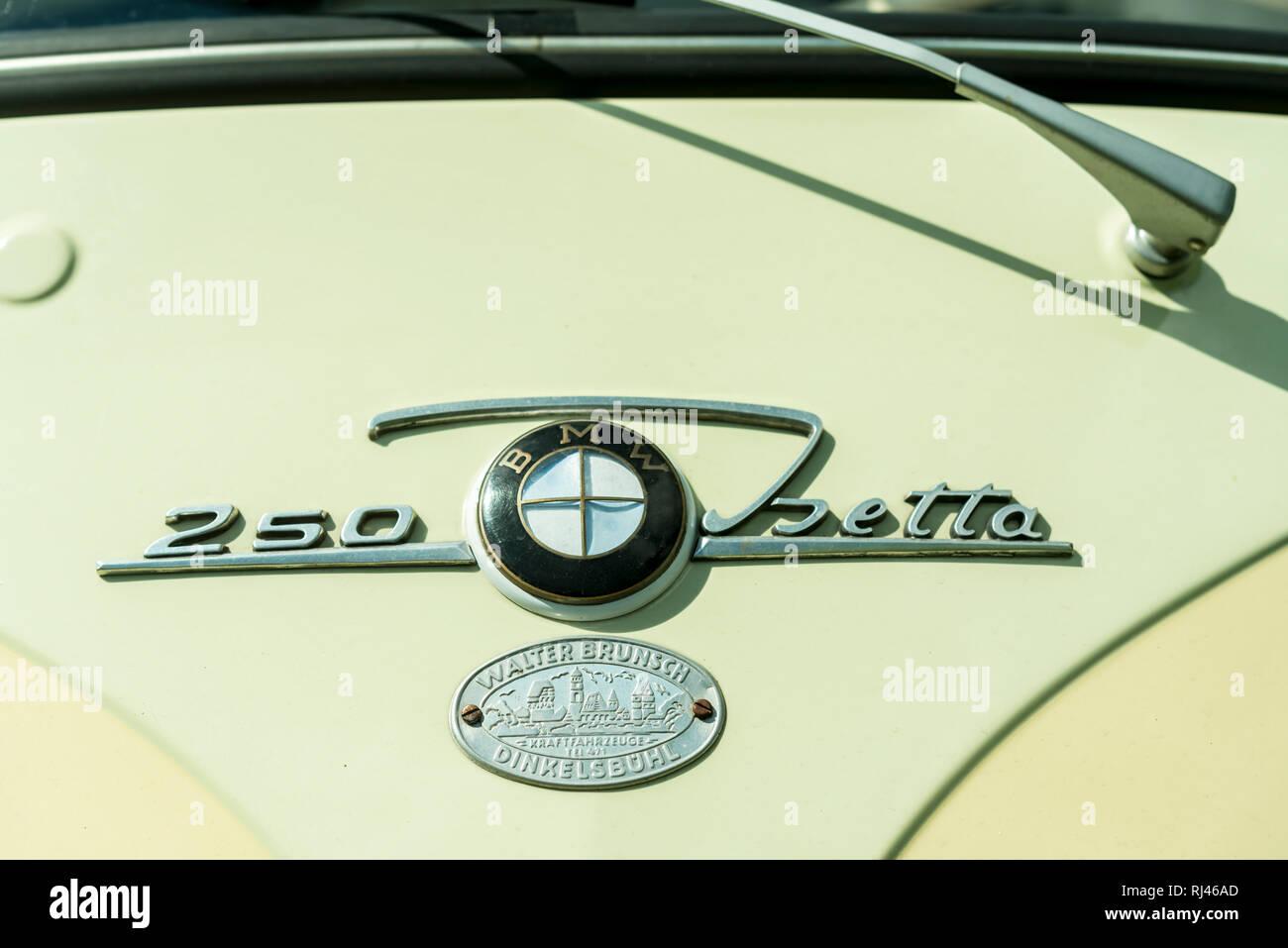 Elsenfeld, Bayern, Deutschland, BMW Isetta, Baujahr 1960, Hubraum 250 ccm, 12 PS, - Stock Image