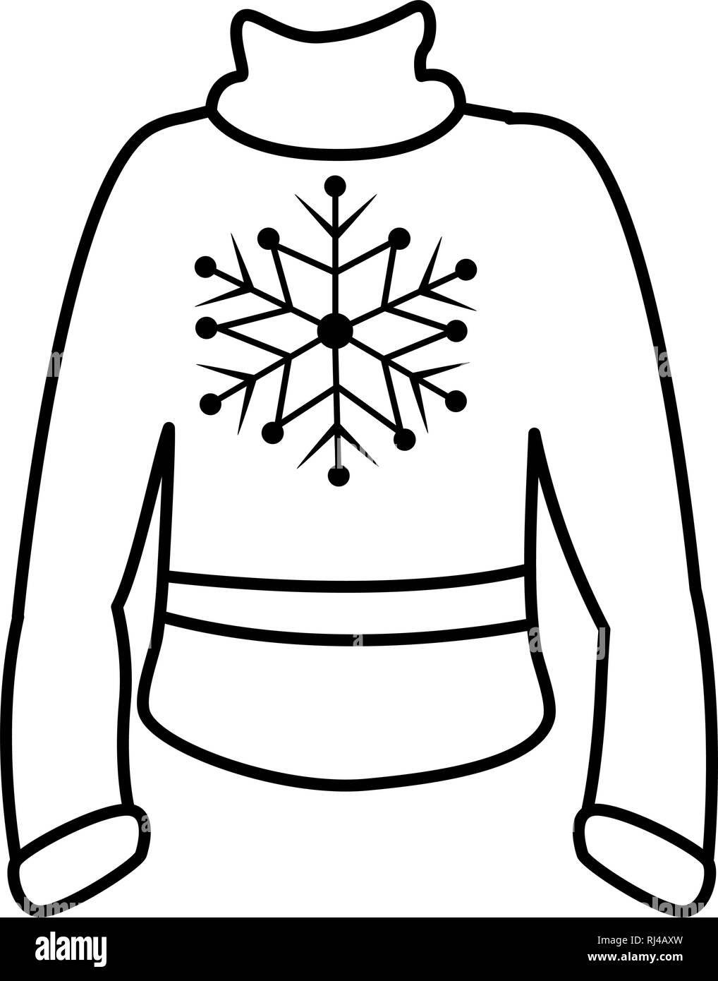 winter season sweater icon vector illustration design Stock Vector