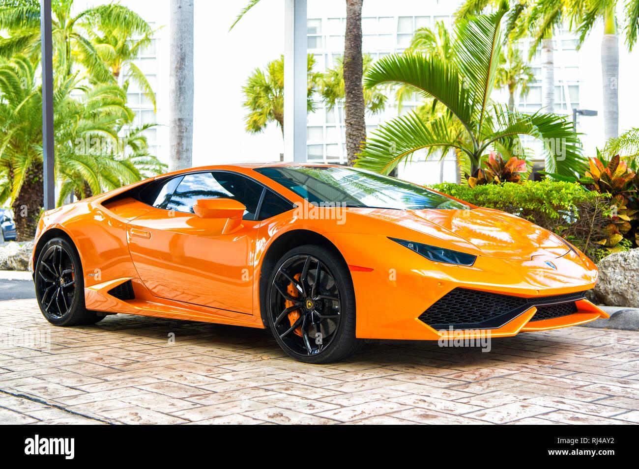 Miami Florida Usa February 19 2016 Supercar Lamborghini