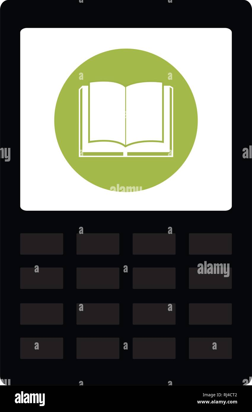 tablet with app ebook vector illustration design - Stock Image