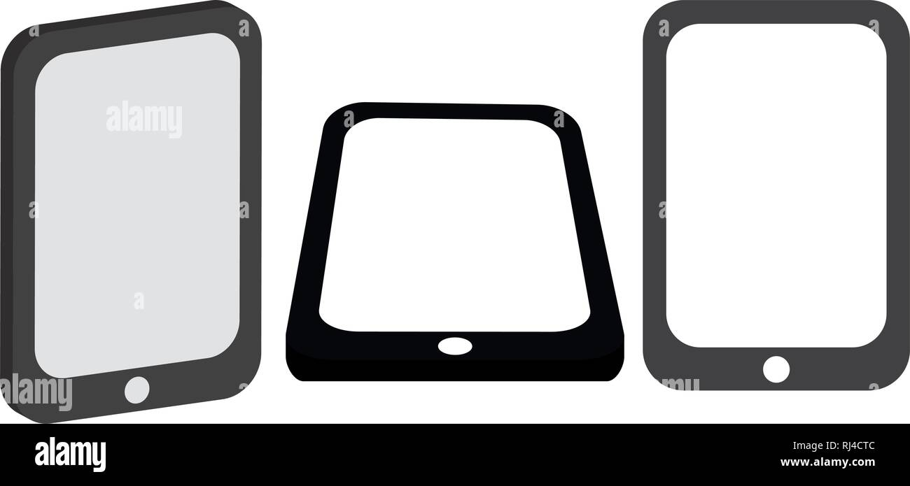set of smartphones devices vector illustration design - Stock Image