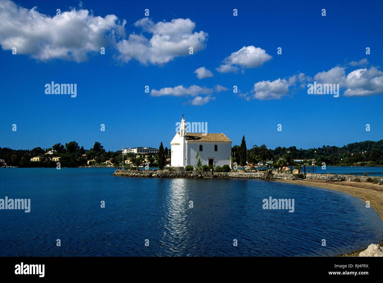 Insel Dafnila, Kirche 'Ipap?nti' Stock Photo