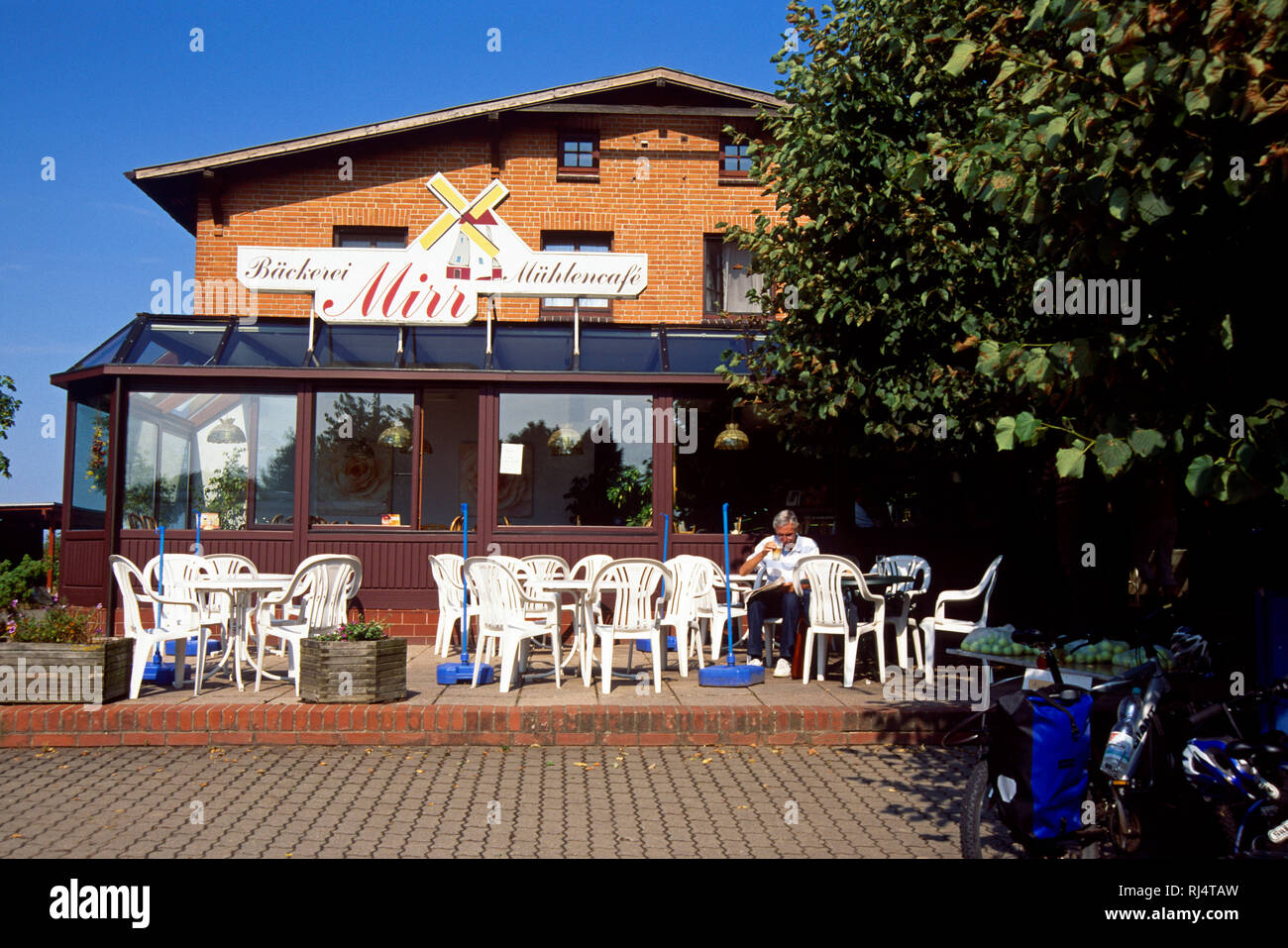Stove, M?hlencafe Mirr, Gast - Stock Image