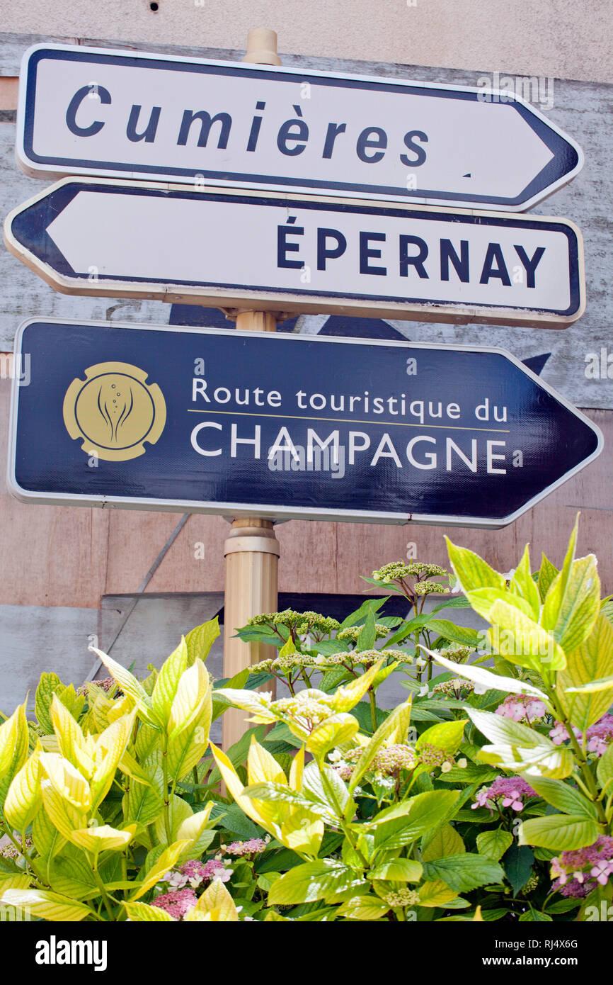 in Hautvillers Champagne - Stock Image