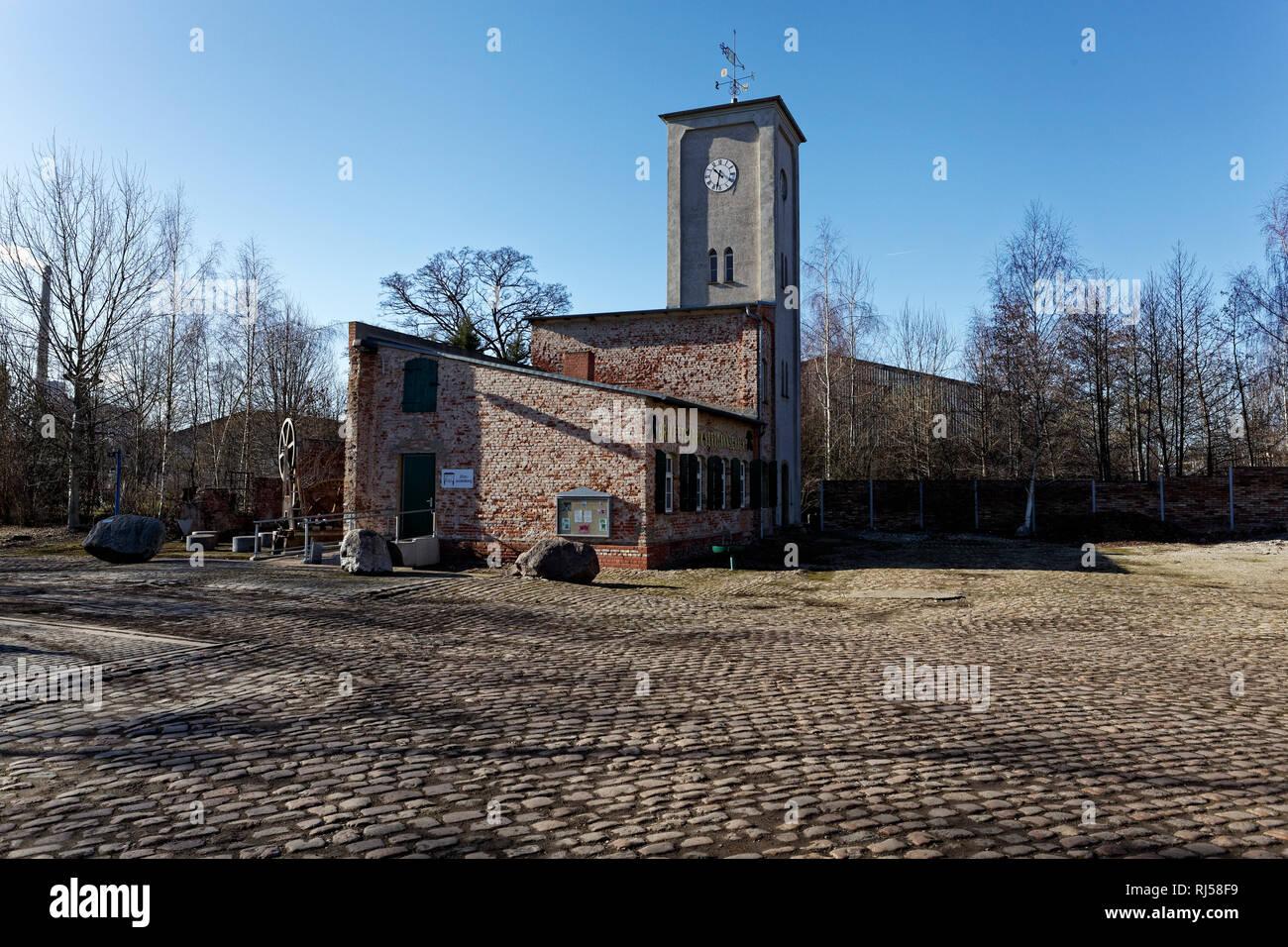 """Brikettfabrik """"Hermannschacht"""" in Zeitz, die ?lteste erhaltene Brikettfabrik der Welt Stock Photo"""