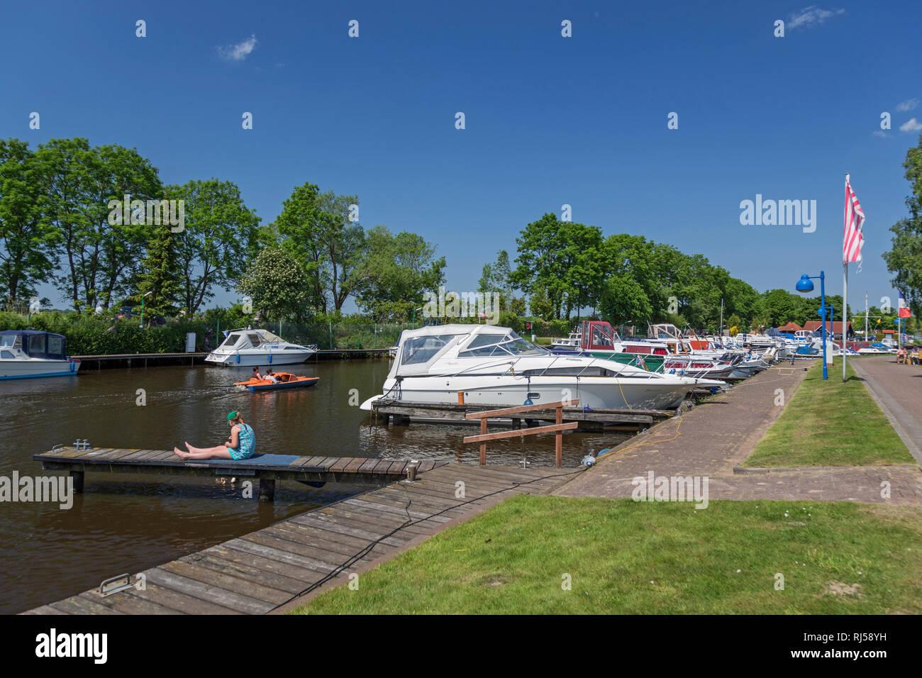 Bootshafen Timmel, Timmeler Meer, Gro?efehn, Stock Photo